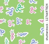 seamless pattern of bows ... | Shutterstock . vector #1276697824
