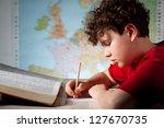 boy learning | Shutterstock . vector #127670735