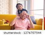 young asia dad and daughter in... | Shutterstock . vector #1276707544