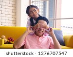 young asia dad and daughter in... | Shutterstock . vector #1276707547