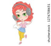 hand drawn beautiful cute... | Shutterstock .eps vector #1276708651