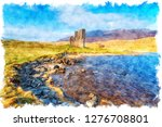 watercolour painting of ... | Shutterstock . vector #1276708801