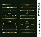 collection of vector dividers.... | Shutterstock .eps vector #1276710301