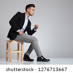 side view of seated businessman ... | Shutterstock . vector #1276713667