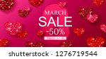 8 march sale background with...   Shutterstock .eps vector #1276719544