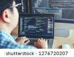 developing programmer... | Shutterstock . vector #1276720207