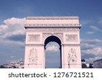 paris  france   triumphal arch... | Shutterstock . vector #1276721521