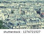 paris  france   aerial city... | Shutterstock . vector #1276721527