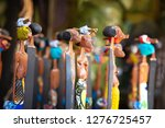 traditional wood carved tribal... | Shutterstock . vector #1276725457