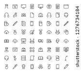 e learning icon set. collection ... | Shutterstock .eps vector #1276734184