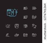 elearning icons set. hydrology...
