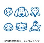 outlined animal  pets icon set  ...   Shutterstock .eps vector #127674779