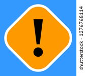exclamation mark icon warning... | Shutterstock .eps vector #1276768114