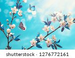 beautiful branch of blossoming... | Shutterstock . vector #1276772161