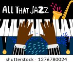 jazz piano poster. blues and... | Shutterstock .eps vector #1276780024