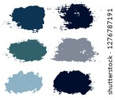 black brush strokes set... | Shutterstock .eps vector #1276787191