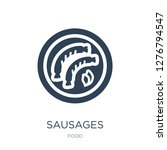 sausages icon vector on white... | Shutterstock .eps vector #1276794547