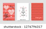 all we need is love. set of... | Shutterstock .eps vector #1276796317