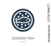 cooked fish icon vector on... | Shutterstock .eps vector #1276798477