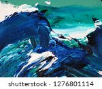 ocean waves .motion  painting... | Shutterstock . vector #1276801114