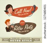 retro emblems   logos | Shutterstock .eps vector #127680401