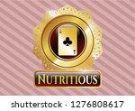 golden emblem or badge with... | Shutterstock .eps vector #1276808617