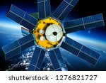 space satellite orbiting the... | Shutterstock . vector #1276821727