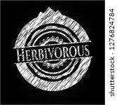 herbivorous with chalkboard... | Shutterstock .eps vector #1276824784