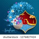 songkran festival  thailand... | Shutterstock .eps vector #1276827424