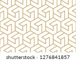 the geometric pattern with... | Shutterstock .eps vector #1276841857