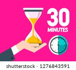 thirty minutes clock with... | Shutterstock .eps vector #1276843591