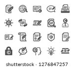 copywriting book icons. set of... | Shutterstock .eps vector #1276847257