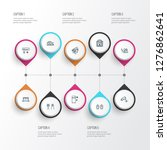 home decoration icons line...   Shutterstock . vector #1276862641