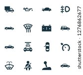 auto icons set with caution ... | Shutterstock . vector #1276862677