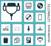 hardware icons set with global...   Shutterstock . vector #1276862731