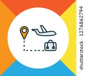 travel tour icon colored line... | Shutterstock .eps vector #1276862794