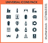 alcohol icons set with bottle... | Shutterstock . vector #1276863331
