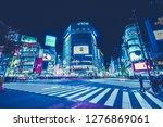shibuya  tokyo  japan  ... | Shutterstock . vector #1276869061