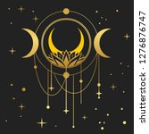dream catcher with moon and...   Shutterstock .eps vector #1276876747