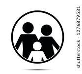 family icon vector illustration ... | Shutterstock .eps vector #1276879531