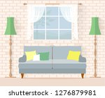 living room in country style.... | Shutterstock .eps vector #1276879981