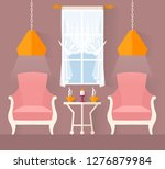 stylish lounge with chairs.... | Shutterstock .eps vector #1276879984