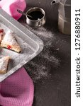 baking tray with fresh pastry... | Shutterstock . vector #1276880911