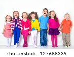 Big  Group Of Diverse Children...