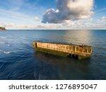 artificial port of arromanches... | Shutterstock . vector #1276895047