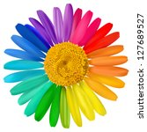 vector multicolored daisy ... | Shutterstock .eps vector #127689527