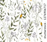 botanical motifs. isolated... | Shutterstock .eps vector #1276906717