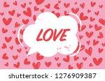 valentine's day illustration... | Shutterstock .eps vector #1276909387