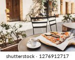 vacations in italy. cup of... | Shutterstock . vector #1276912717