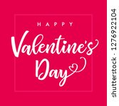 happy valentine day elegant... | Shutterstock .eps vector #1276922104